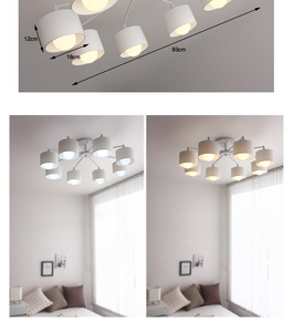 Image 4 - LED ceiling Chandelier For Living Room E27 Chandelier Lighting With Lampshades Dining  Chandeliers Modern Kitchen Lamps lights