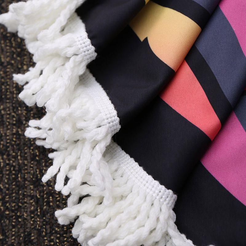 UFRIDAY Musim Panas 3D Donat Putaran Handuk Pantai Hitam Wanita Donat - Tekstil rumah - Foto 4
