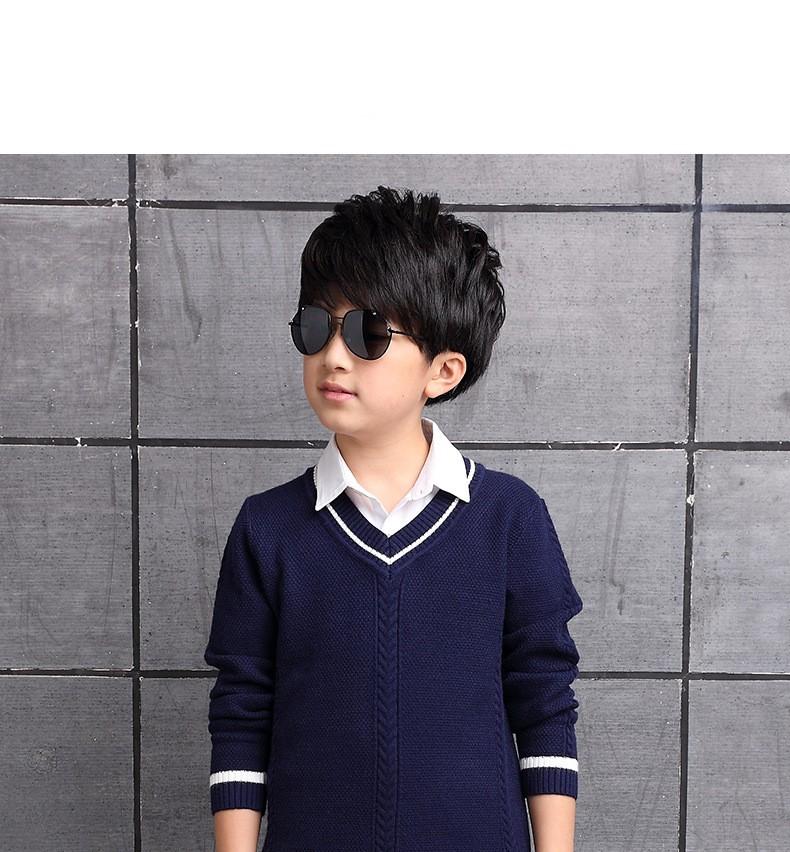 HTB1TYjGOXXXXXc6XFXXq6xXFXXXm - 2017 Children's sweater Winter new  Keep warm Cashmere boy sweater V-collar Kids for boys Children's clothing Winter clothing