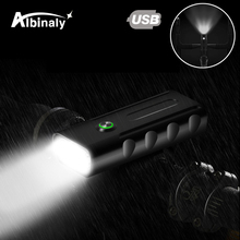 USB Rechargeable Bicycle Light 3 Lighting Mode LED Bike Waterproof Portable Easy to Install Suitable for Night Ride