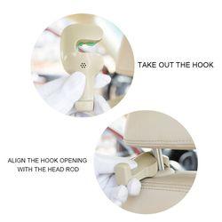 Hak na siedzenie samochodu tylne siedzenie ukryte wyposażenie wnętrza samochodu wielofunkcyjne kreatywne przechowywanie z hakiem do samochodu