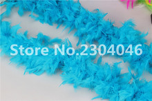 Beautiful blue lake 2 meters long (38-40 grams) decoration feather garment accessories wedding DIY fire feather fire tablets