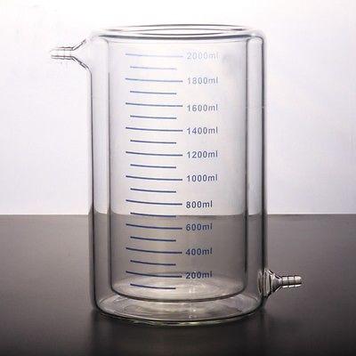 2000ml Laboratory Jacketed Borosilicate Glass Beaker Double Layer Beaker for Photocatalytic Experiment gianna meliani luxury сандалии