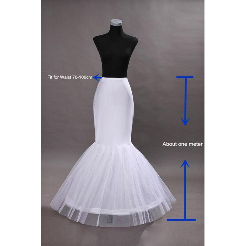 Hot Sale Cheap 2018Mermaid Wedding Petticoat Bridal Accessories Underskirt Crinoline Petticoats for Wedding Dresses Jupon