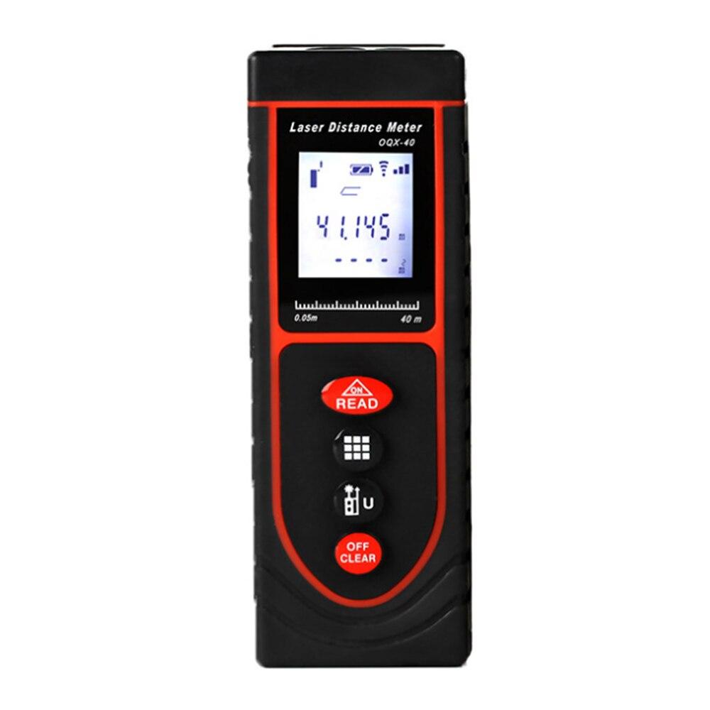 Télémètre Laser 40M Numérique Mesure Les Distance Surface Volume Pythagore IP54