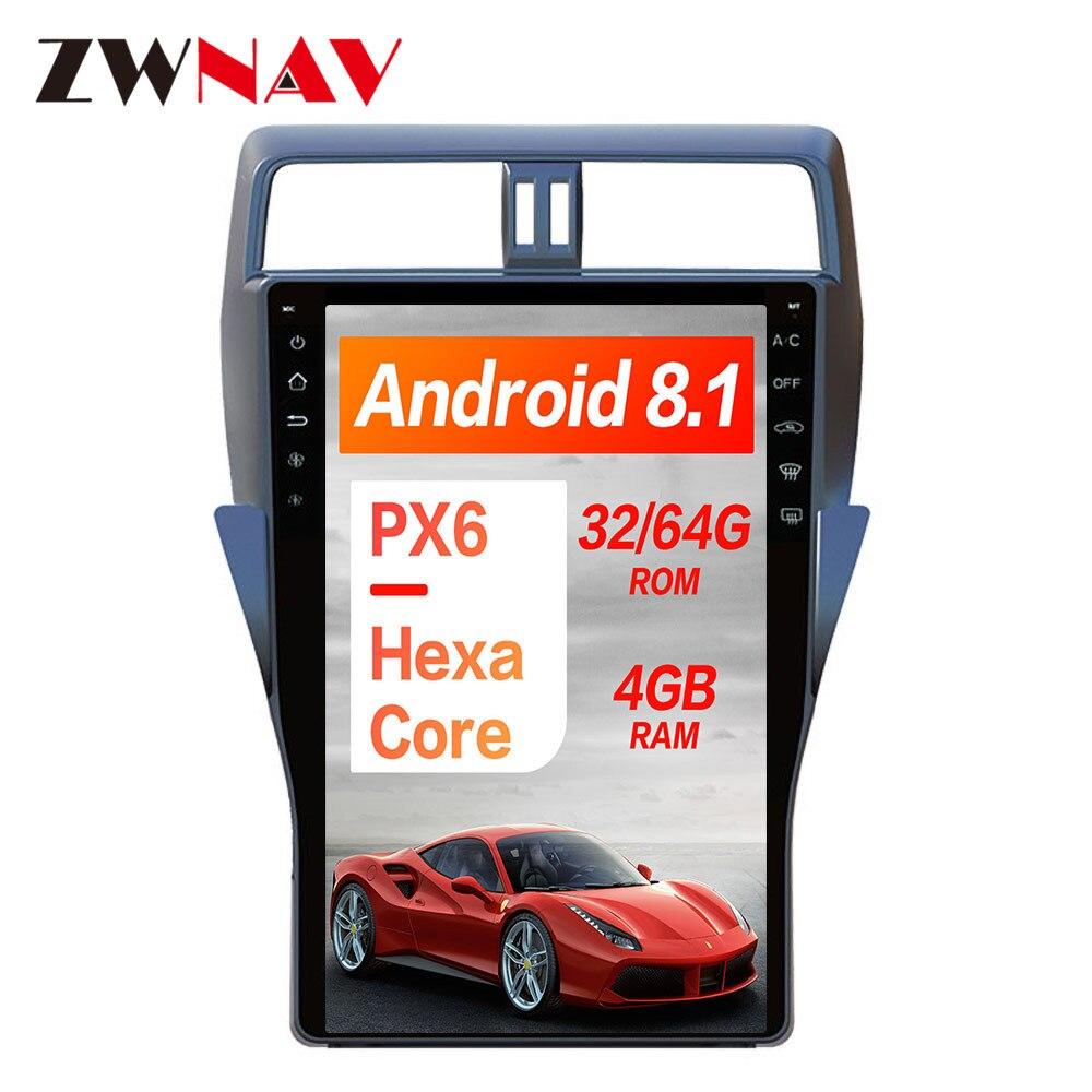 Tesla style 16 inch Car No DVD Player GPS Navigation For TOYOTA Land Cruiser Prado 150