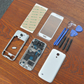 White Full Housing Cover Repair Parts + Outer Glass + adhesive + Tools + Home Button For Samsung Galaxy S4 SIV Mini i9190 i9195
