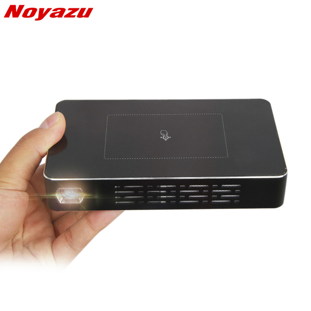 Best Offers NoayzuD09 Projector Mini Android DLP Dual WiFi Smartphone 1200 Lumen Pico Film Projecteur with Touch Key Beamer for Home Theater
