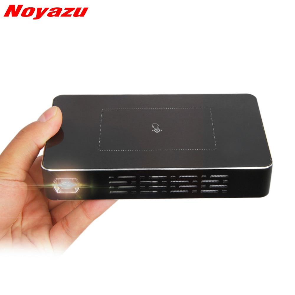 NoayzuD09 Projector Mini Android DLP Dual WiFi font b Smartphone b font 1200 Lumen Pico Film