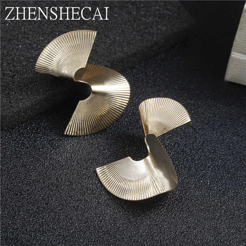 New Fashion Punk stud Earrings For Women Irrgualar Geometric gold color Personalized Hyperbole ear Jewelry wholesale