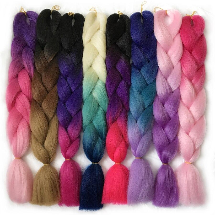 VERVES ombre Плетіння волосся 1 шт 24 дюймів - Синтетичні волосся