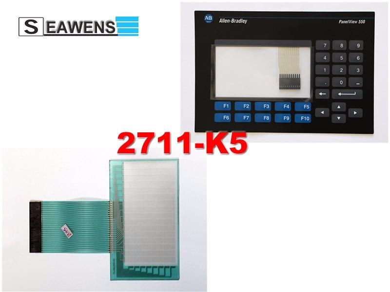 2711-K5A5 touch screen + membrane (2711-K5) keypad for Allen-Bradley HMI 2711K5A5, FAST SHIPPING op17 op170b op3 c7 635 ktp1000 op73 td200 membrane keypad new 100% repair parts fast shipping