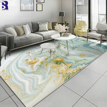 SunnyRain 1-piece Marbling Area Rug Carpet For Living Room Rugs Slipping Resistance Kitchen Rugs Washable