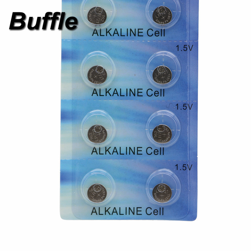 Buffle 10x 1 5V Button Coin Cell Watch Battery AG11 LR47 SR721SW LR721 V362 in Button Cell Batteries from Consumer Electronics