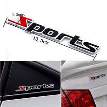 1 Pcs Car-styling Sport Version Metal Car Labeling Sports Word letter 3D Chrome metal Car Sticker Emblem Badge Decal Auto(China)