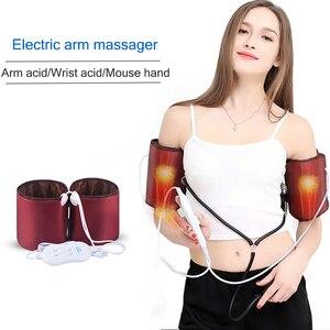 Image 1 - Электрический массажер для рук, локоть, суставы, вибрация, нагрев, разминающий массажер, домашний массаж, терапия 220 В
