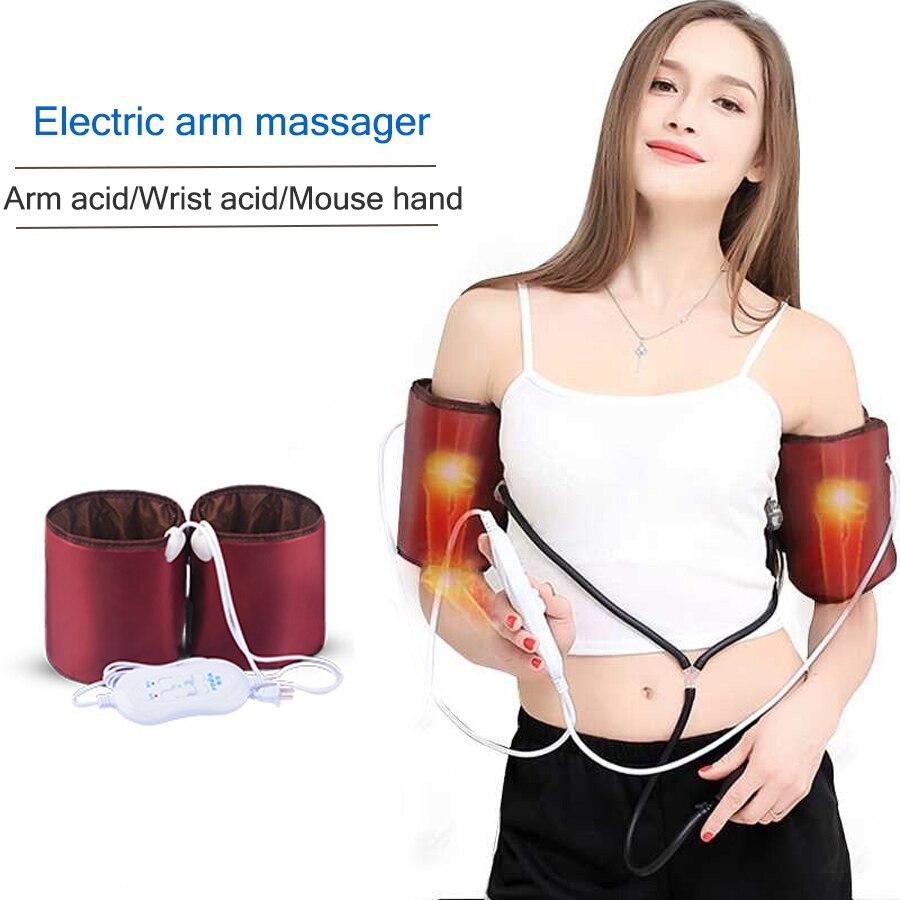 Braccio massaggiatore Elettrico a mano da polso gomito dolore terapia di massaggio di Vibrazione del dispositivo di riscaldamento impastare massaggiatore Per La Casa 220V-in Massaggi e relax da Bellezza e salute su  Gruppo 1