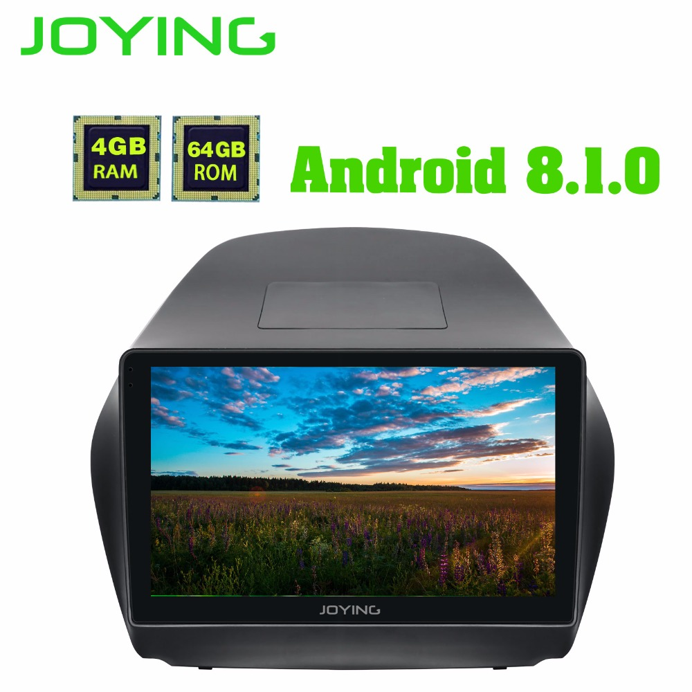 JOYING 10.1 pollice Android 8.1 GPS DVD Stereo Radio 4 + 64 gb Unità di Testa per Hyundai TUCSON IX35 2009 -2015 con Carplay WiFi Bluetooth