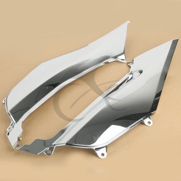Left & Right Chrome Mid Frame Cover Fairing For Honda Goldwing GL1800 2012-2015 right side trunk pocket saddlebag for honda gl1800 goldwing 2006 2012