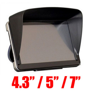 GPS Navigation Accessories 4.3 / 5 / 7 / Inch Frame GPS Universal Sunshade Sun Shade GPS Screen Visor Hood Block(China)