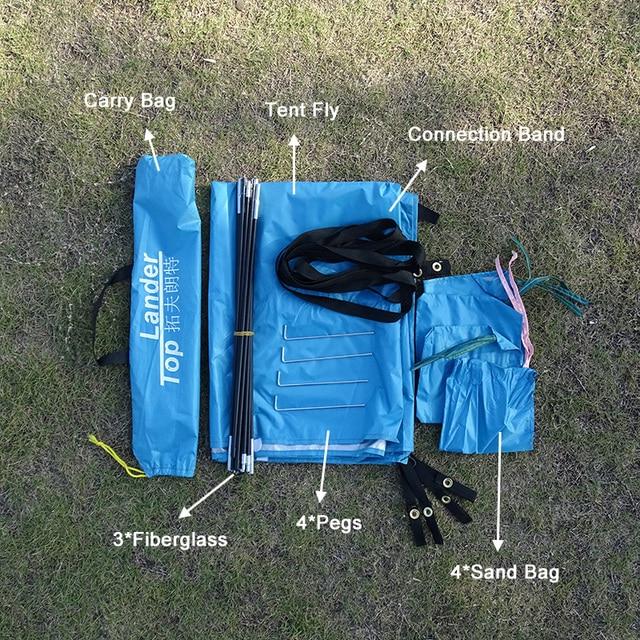 Lightweight Portable Sun Shelter Beach Tent Summer Outdoor Garden Sun Awning Sun Shade Canopy Easy Setup Camping Fishing Hiking 6