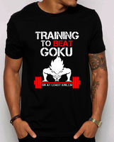 Training to Beat Goku Unisex T shirt. Train Insaiyan vegeta DBZ SHIRT S 4XL 100% Cotton For Man T shirt printing