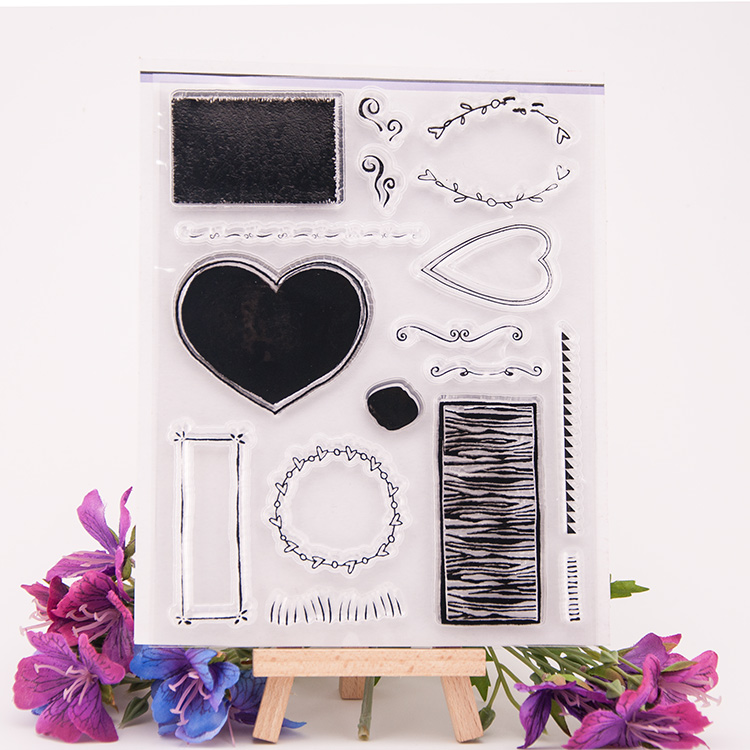 LOVE HEART Scrapbook DIY photo cards account rubber stamp clear stamp transparent seal 14X18cm school Kid Christmas gift scrapbook diy photo cards account rubber stamp clear stamp finished transparent chapter vintage cars 15 21