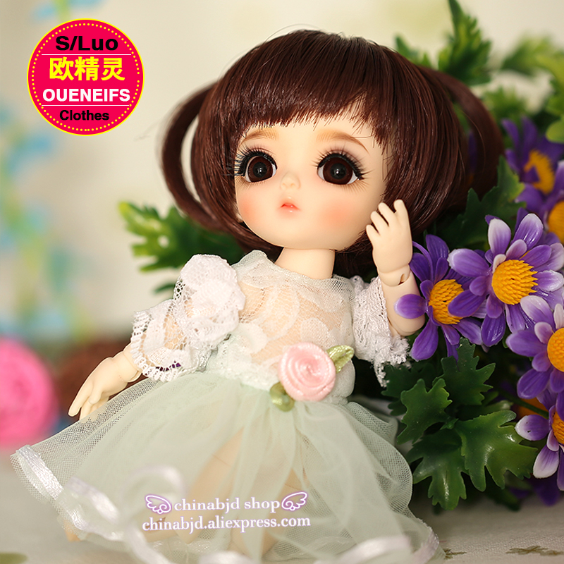 OUENEIFS free shipping, chiffon dress,round neck Lace sleeve, in summer, 1/8 bjd sd doll clothes,no dolls and wigs YF8-101  3