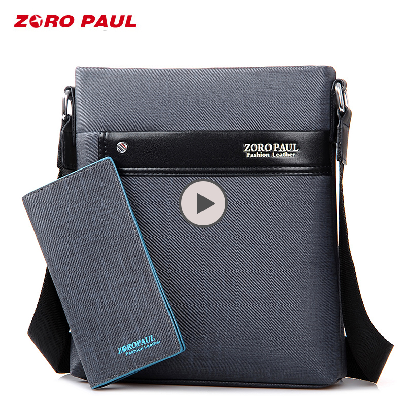 ZORO PAUL Casual Business Men Messenger Bags High Quality PU Leather Crossbody Shoulder Bags for Men Waterproof Man Bag Purse цена