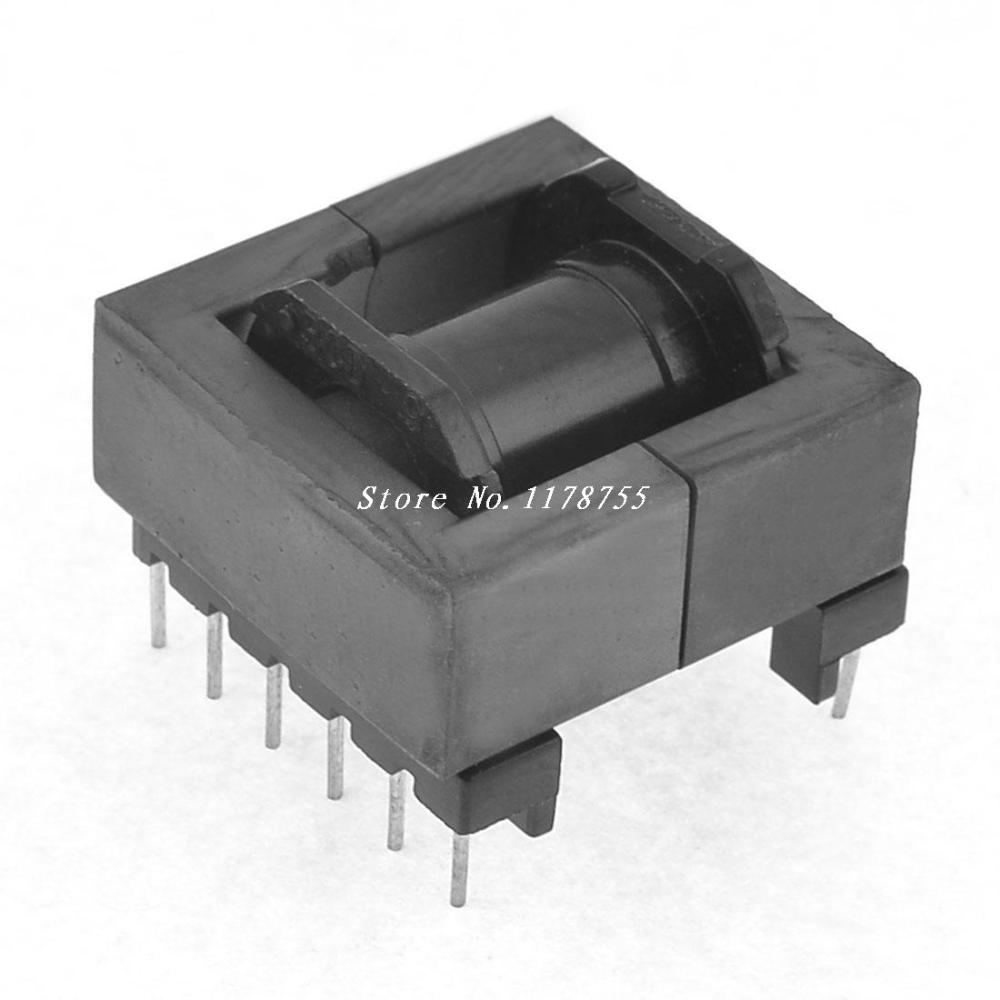 EE Transformer Ferrite Magnetic Core 12 Pins Plastic Bobbin ee42 plastic bobbin magnetic ferrite cores for transformer