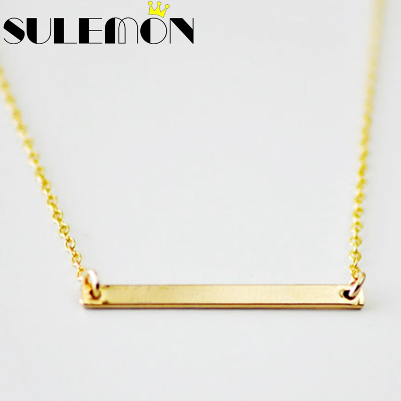 gold necklace listing or holx rose personalized silver il crossbar