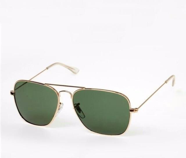 2017 New Men caravan Brand Alloy flyer Sunglasses Gold Frame G15 Glasses Fashion men Original Brand Sunglasses with box