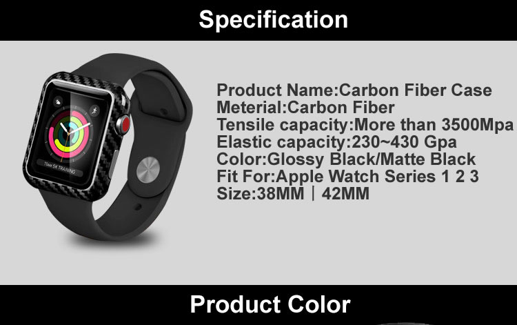 Carbon fiber case for apple series iwatch watch shell (6)