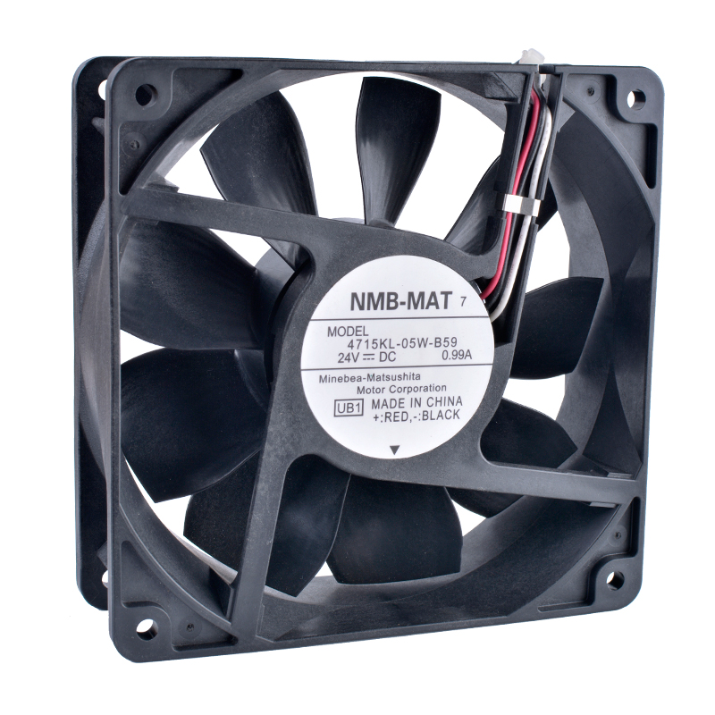 COOLING REVOLUTION 4715KL-05W-B59 12CM 120mm 12038 24V 0.99A Double ball bearing air volume inverter server IPC cooling fan computer water cooling fan delta pfc1212de 12038 12v 3a 12cm strong breeze big air volume violent fan