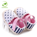 Baby Girl Shoes Striped Heart Printed Princess First Walker Kids Shoes White Bottom Prewalkers Cartoon Animation Cork Baby Shoes