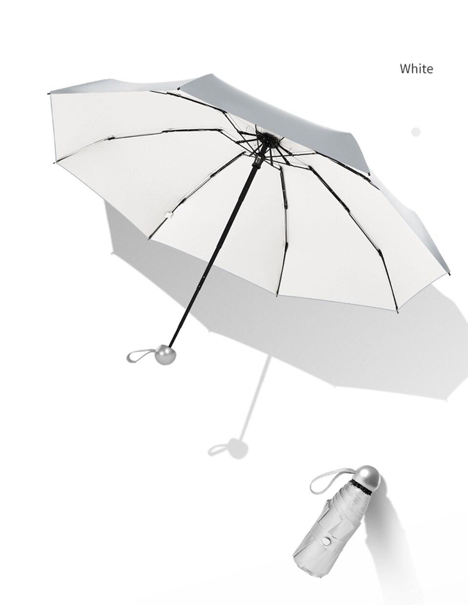 8 Bones Pocket Mini Umbrella Anti UV Paraguas Sun Umbrella Rain Windproof Light Folding Portable Umbrellas for Women Children (14)