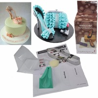 TANGCHU 3D Baking Wedding High Heeled Shoes Kit Set As Cake Decorating Supplies Chocolate Fondant Candy