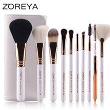 10pcs Makeup Brushes Rose Gold Cosmetic Brush Foundation Eyeshadow Eyeliner Lip Brush Kits
