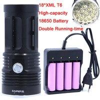 18T6 40000 Lumens LED Flash Light 18 XM L T6 LED Flashlight Torch Lamp Light For