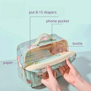Image 2 - Sunveno موضة الرطب حقيبة حفاضة مقاومة للماء حقيبة قابل للغسل القماش حفاضات الطفل حقيبة قابلة لإعادة الاستخدام أكياس الرطب 23x18 سنتيمتر المنظم لأمي