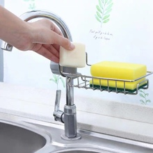 Kitchen storage stainless steel faucet rack artifact hanging basket sponge drain rack sink storage rag rack Dry Towel Organizer