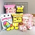 A bag of 8pcs sweet candy plush toys simulation snack throw pillow kawaii sakura rabbit plush creative toys for children/baby