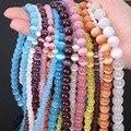 Branco/Rosa/PurpleNew! 5AAA + Opal Cat Eye Natural Beads para Fazer Jóias Frete Grátis Por Atacado 4/6/8/10/12 MM