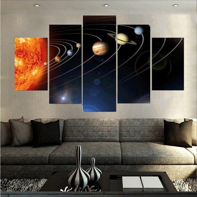 De Zeven Planeten In Ruimte Slaapkamer Schilderijen Wall Art ...