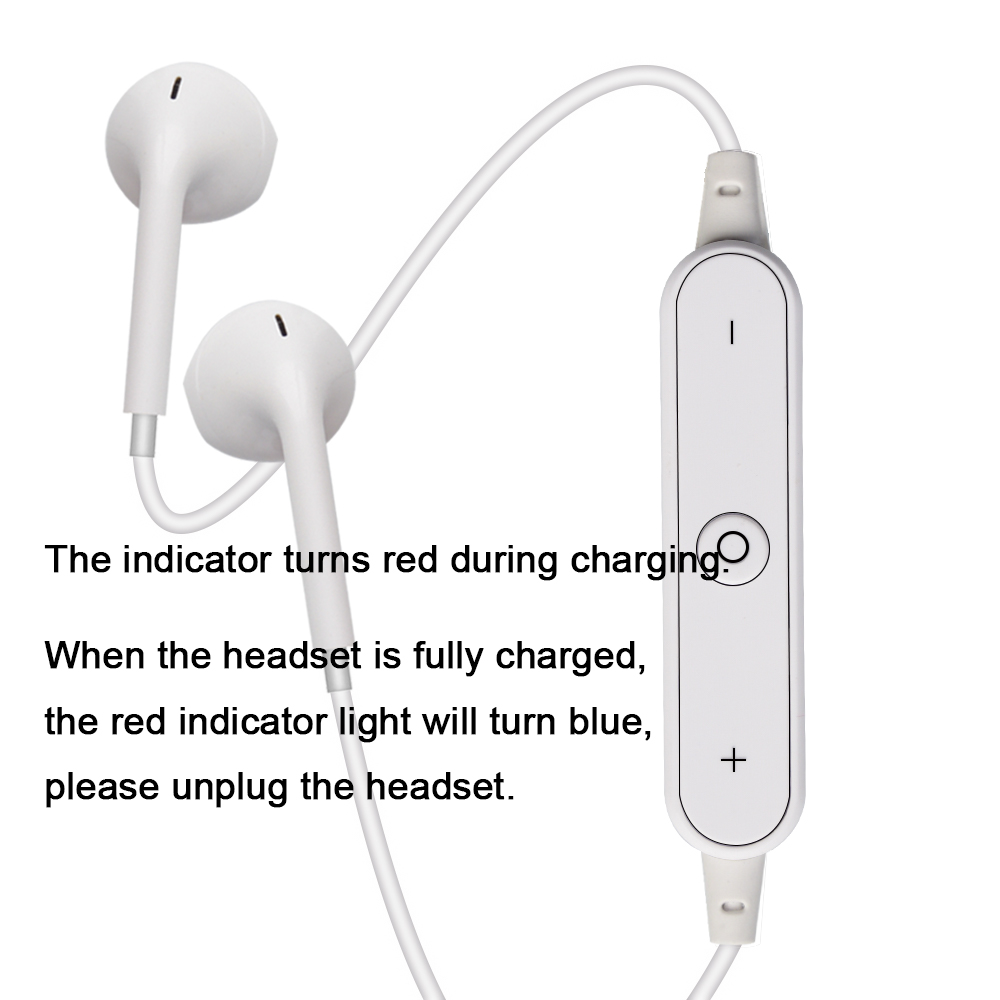 High Quality S6 Sports Wireless Bluetooth Earphones Headset Earpiece Headphones With Mic black 5