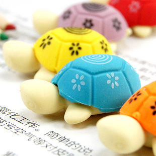 Stationery, Cartoon, Lovely, Colorful, Small Turtle Eraser (two Pieces) Novelty Erasers Funny Office Gift Promotional Eraser