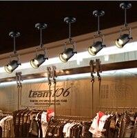 1/2/3/4 head American theo dõi khách hiện đại nhỏ gọn room bar cửa hàng quần áo nhà hàng đèn LED sáng tạo ánh sáng Retro 90-260 V