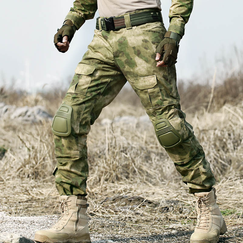 Tactical Camo Lastbyxor Knäkuddar Män Armé Militär Combat - Herrkläder - Foto 2