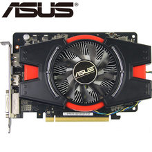 Asus placa gráfica hd 7750 1 gb 128bit gddr5 placas de vídeo para ati radeon hd7750 placas vga usado equivalente gtx 750 gtx650 ti