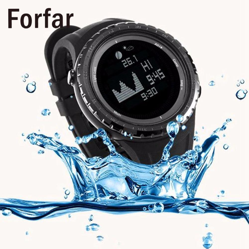 Forfar Multifunction Tide Fishing Digital Wrist Watch Altimeter Barometer Compass цены